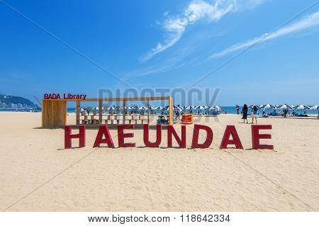 Haeundae beach one of the popular beaches of Busan