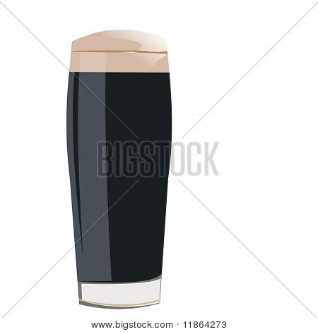 A Glass With Cocacola Is Isolated On White Background
