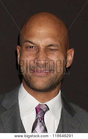 LOS ANGELES - FEB 16:  Keegan-Michael Key at the Triple 9 Premiere at the Regal 14 Theaters on February 16, 2016 in Los Angeles, CA