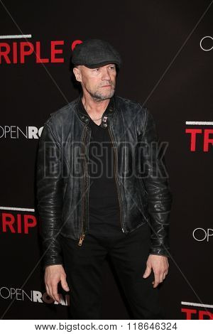 LOS ANGELES - FEB 16:  Michael Rooker at the Triple 9 Premiere at the Regal 14 Theaters on February 16, 2016 in Los Angeles, CA