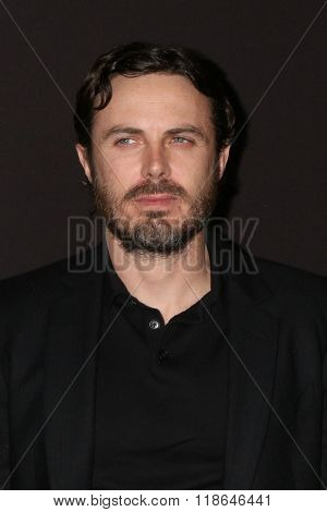 LOS ANGELES - FEB 16:  Casey Affleck at the Triple 9 Premiere at the Regal 14 Theaters on February 16, 2016 in Los Angeles, CA