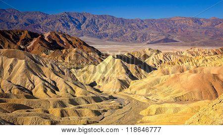 Rugged Hills Of Zabriskie Point In Death Valley
