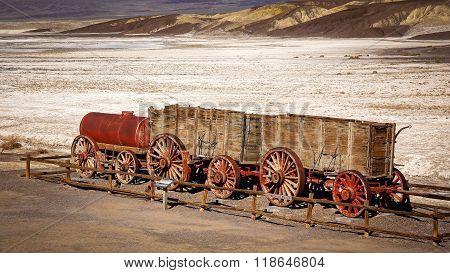 Twenty Mule Team Wagon In Death Valley