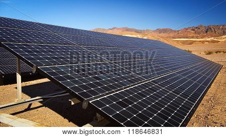 Solar Panels In Death Valley National Park