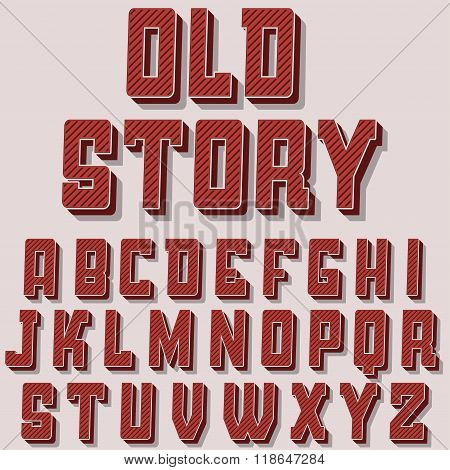 Vintage alphabet vector font.  Old style typeface