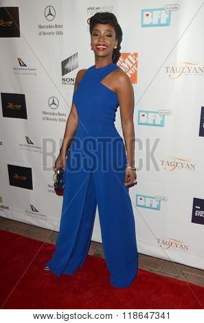 LOS ANGELES - FEB 10:  Teyonah Parris at the African American Film Critics Association 7th Annual Awards at the Taglyan Complex on February 10, 2016 in Los Angeles, CA