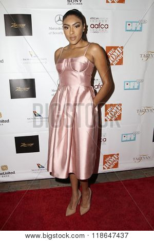 LOS ANGELES - FEB 10:  Ivy-Victoria Maurice at the African American Film Critics Association 7th Annual Awards at the Taglyan Complex on February 10, 2016 in Los Angeles, CA