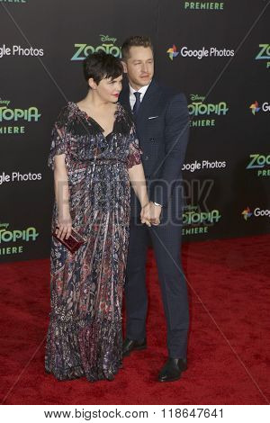 LOS ANGELES - FEB 17:  Ginnifer Goodwin, Josh Dallas at the Zootopia Premiere at the El Capitan Theater on February 17, 2016 in Los Angeles, CA