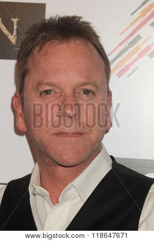 LOS ANGELES - FEB 16:  Kiefer Sutherland at the Forsaken Los Angeles Special Screening at the Autry Museum of the American West on February 16, 2016 in Los Angeles, CA
