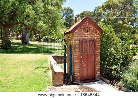 Azelia Ley Homestead: Freestanding Toilet