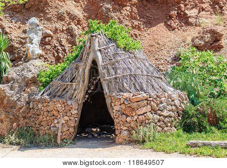 Stone-age homo sapiens old house