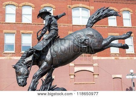 Cowboy Statue In Deadwood