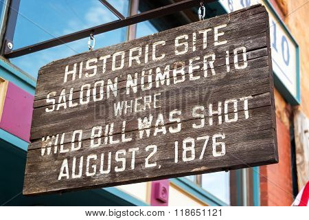 Site Where Wild Bill Hickok Was Shot