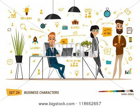Business characters set