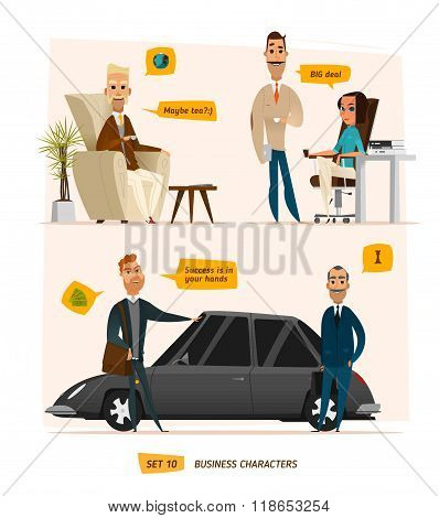 Business characters scenes