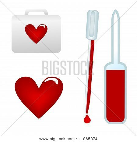 Medical Test-tube With Blood Sample