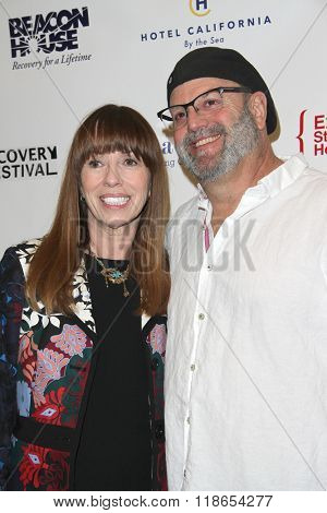 Mackenzie Phillips and Jay Silverman arrive at the