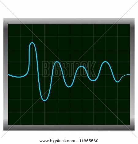 Normal Ecg (electronic Cardiogram) Blue