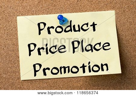 Product Price Place Promotion - Adhesive Label Pinned On Bulletin Board