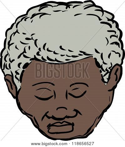 Black Man With Closed Eyes