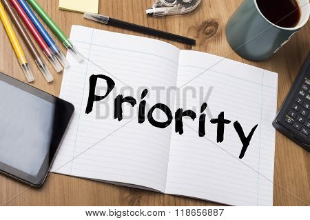 Priority - Note Pad With Text