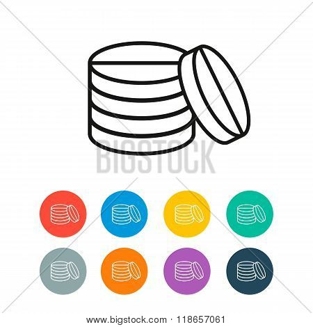 Pills vector icon colored circle
