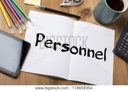 Personnel - Note Pad With Text