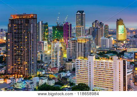 Bangkok, Thailand, financial district cityscape.