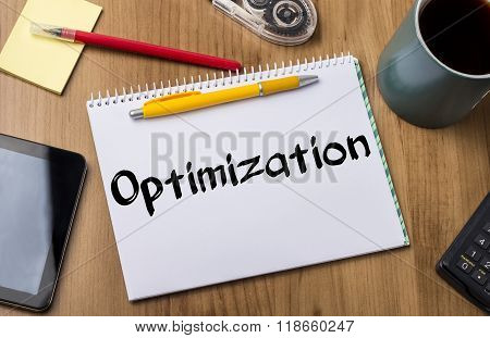 Optimization - Note Pad With Text