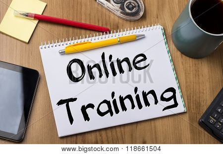 Online Training - Note Pad With Text