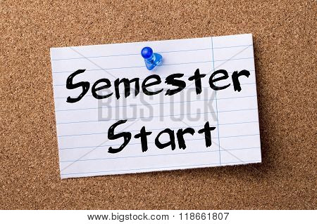 Semester Start - Teared Note Paper Pinned On Bulletin Board