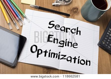 Search Engine Optimization - Note Pad With Text