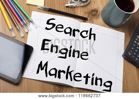 Search Engine Marketing Sem - Note Pad With Text