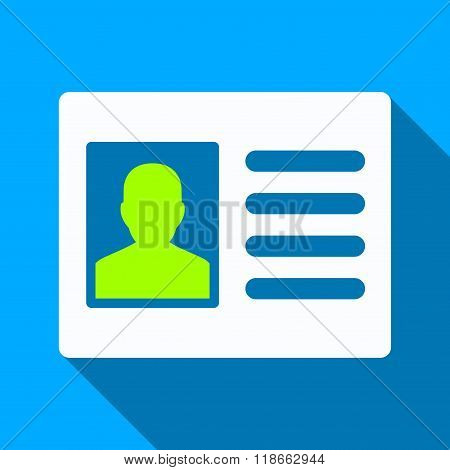Patient Account Flat Long Shadow Square Icon