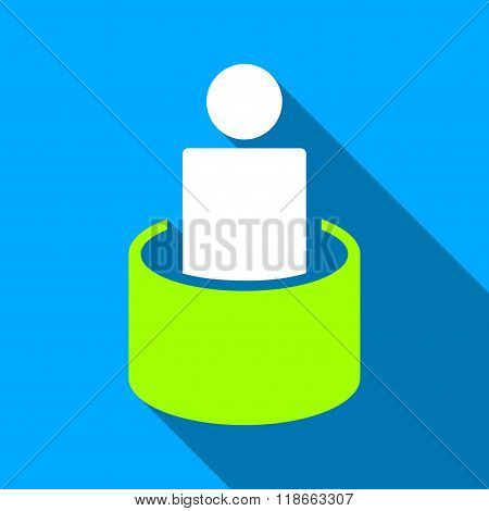 Patient Isolation Flat Long Shadow Square Icon