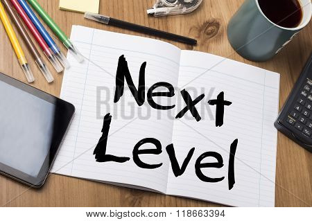 Next Level - Note Pad With Text