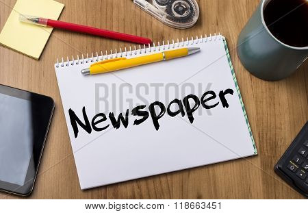 Newspaper - Note Pad With Text