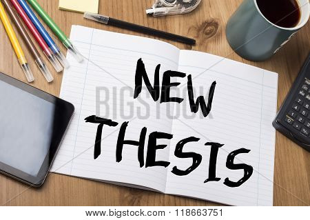 New Thesis - Note Pad With Text