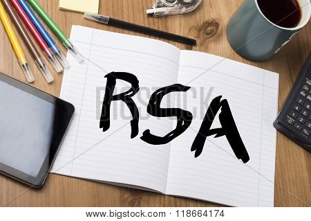 Rsa - Note Pad With Text
