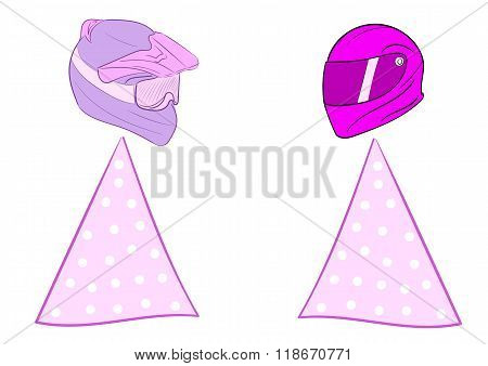 Pink women motorcyclists