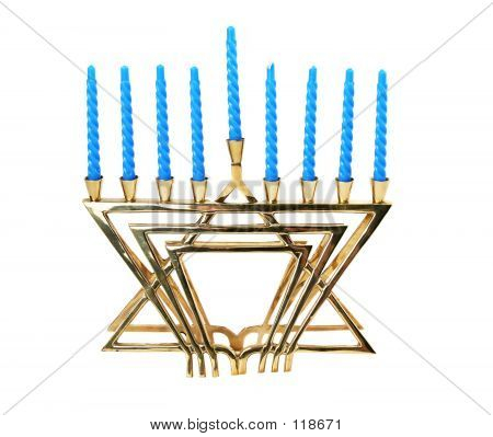 Hanukah Menorah - Isolated