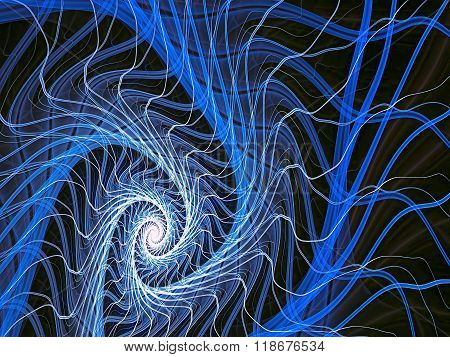 Abstract digitally generated image mystic spiral