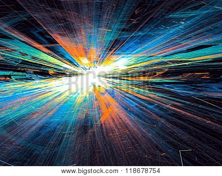 Abstract bright colored technology background digitally generate