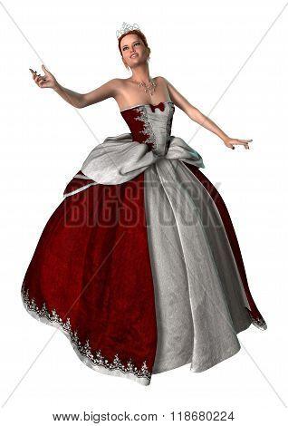 Fairytale Princess On White