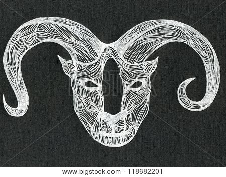 White Color Horny Bull Muzzle