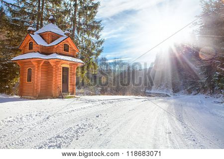 blockhouse in the forest