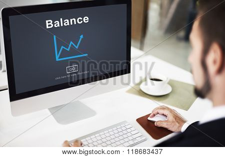 Balance Growth Development Improvement Business Concept