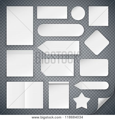 Set of White Paper Sheets Mock Ups and Banners