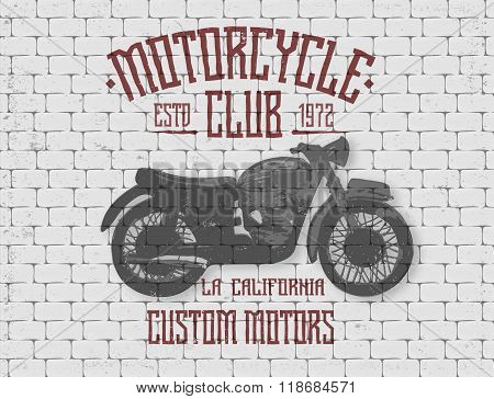 Poster design. Motorcycle club.