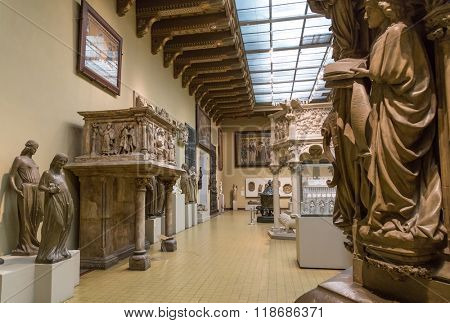 Moscow, Russia - October 29, 2015:  Pushkin Museum of Fine Arts